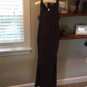Old navy dark grey maternity maxi dress