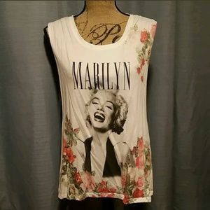 Marilyn Monroe Open Back Muscle Tank Size XL