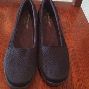 Navy Grasshopper Maybelle Slip-on Wedge