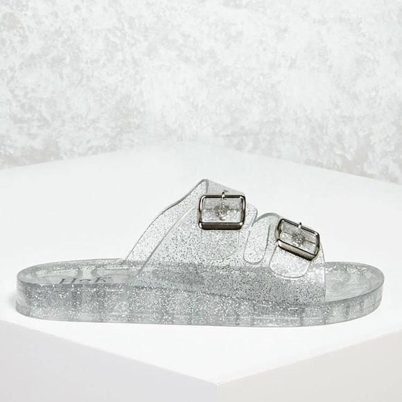 b6b55445b901 Forever 21 Shoes - Glitter Jelly slides