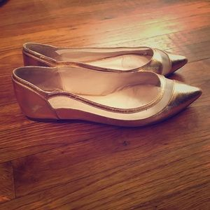 Rose Gold Flats, Size 10