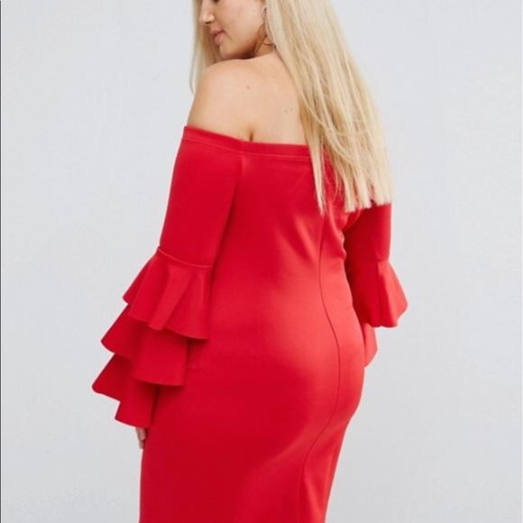 ASOS Curve Dresses & Skirts - Bodycon Midi Dress