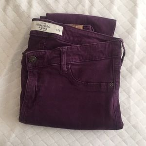 Abercrombie and Fitch - Purple Jeggings