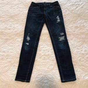 Distressed WHBM jeans