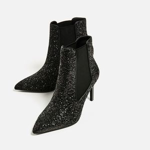 ZARA Glitter Boot