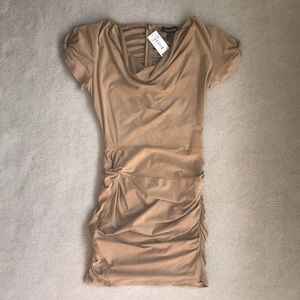 Bebe rouched dress ultra suede