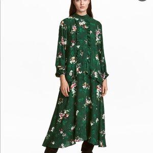 Green statement dress