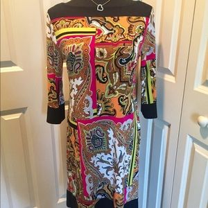 Beautiful colorful dress by Emma Michelle in m