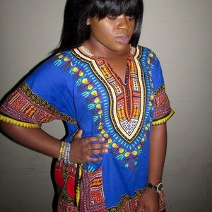 Dashikis Available Colors Blue, Green and Pink!