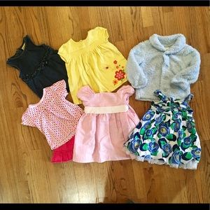 7 piece 12 to 18 month girls clothing lot
