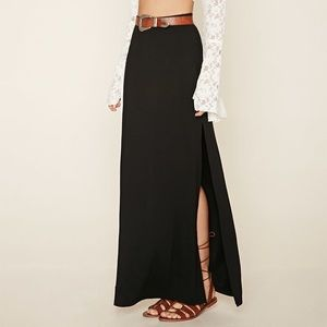 Like new Black Maxi Skirt with side slits