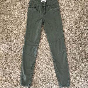 H&M Olive Green Skinny Jeans