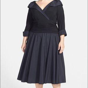 Jessica Howard Shawl Collar Jeweled Cuff Dress