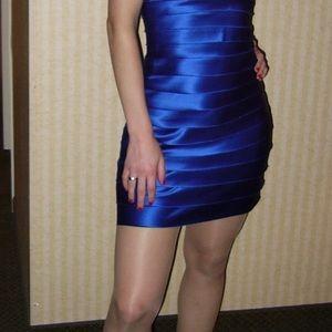 BCBG royal blue halter dress