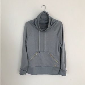 Under Armour gray with gold accents top/sweatshirt