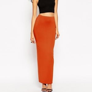 ASOS Knit Maxi Skirt with Back Slit