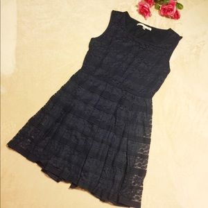 Max Studio Navy Blue Lace Dress