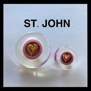 ST. JOHN Replacement Buttons Two Lavender Lucite