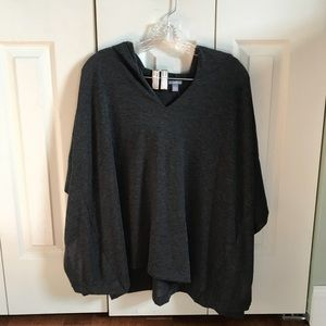 Aerie hooded poncho