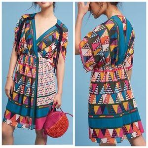 NWT Anthropologie Maeve geo printed dress size 8
