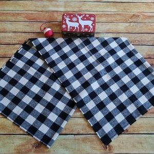 🎁🎄Black & White Checkered Flannel Blanket Scarf
