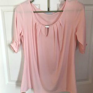 Pink Quarter Sleeve Blouse