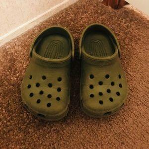 Toddler Green crocs Crocs Size 6/7