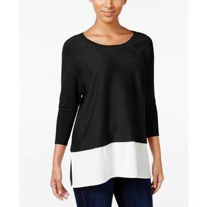 Style & Co Black Layered Sweater Size XL