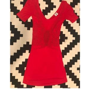 Free people red dress