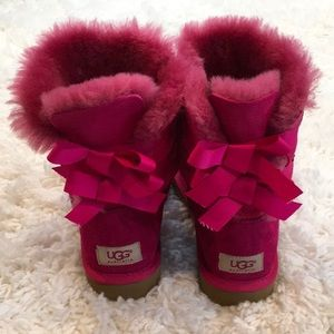UGG Pink Bailey Bow Winter Boots