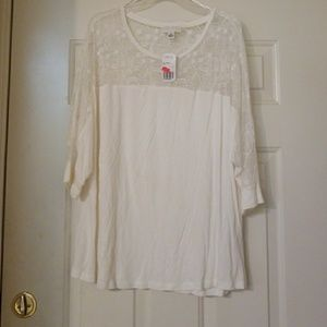 NWT Cream colored forever 21 plus top
