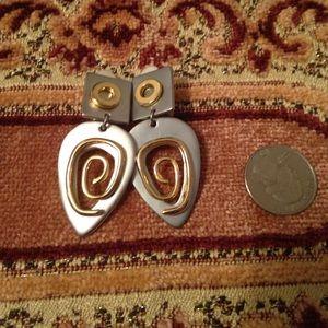 Modern style clip on earrings