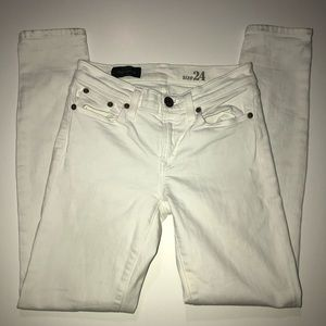 J Crew Toothpick White Skinny Jeans