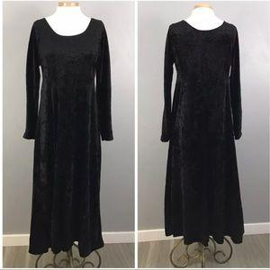 90's All That Jazz Black Velvet Maxi Grunge Dress