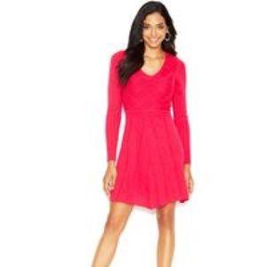 Jessica Simpson Hot Pink Sweater Dress