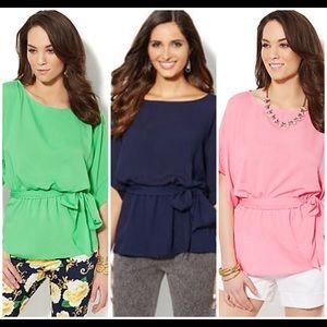 NY&Co Kimono Sleeve Belted Blouse
