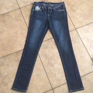 Earl Jean Thick Stitch Jeans. Rhinestone pockets 7