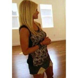 Christina el moussa crochet top size small