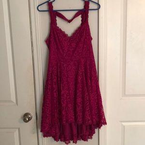 Hi-low open back formal dress