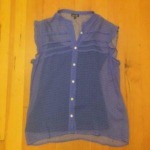 Steven Alan silk ruffle sleeve shirt