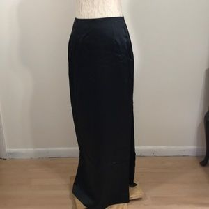 Nicole Miller Black Satin Skirt- Sz 4