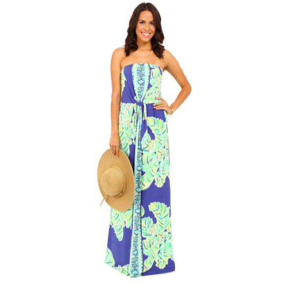98c52e9ab36a Lilly Pulitzer Dresses & Skirts - Lilly Pulitzer Rosalina Blue Maxi Palm  Dress, ...