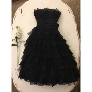 Fancy Formal Ruffle Midi Dress