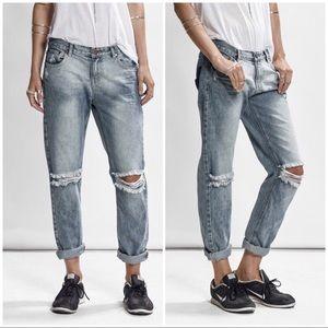 One Teaspoon Awesome Baggies Boyfriend Jeans sz 30