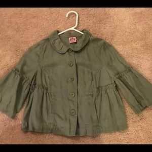 Juicy couture 3/4 Sleeve Crop Shirt Jacket