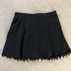 Black Skort with Frill