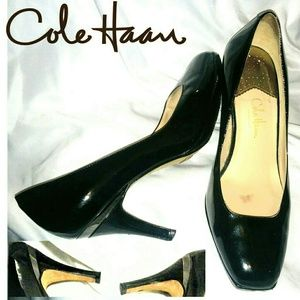 Cole Haan black patent leather Nike air heels