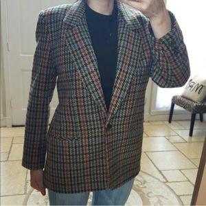 Giorgio Sant Angelo Women Blazer Wool Houndstooth