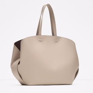 Zara Contrasting Tote Bag