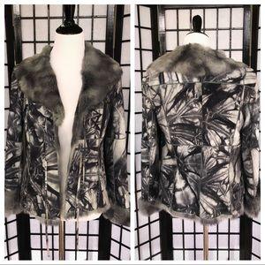 JULIANA COLLEZIONE 100% Fur Leather Grey Jacket